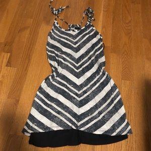 Gray striped dress